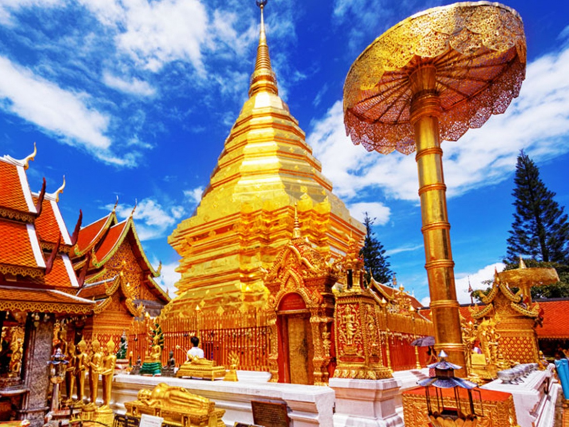 ONE DAY STUNNING DOI SUTHEP TEMPLE + HIDDEN TEMPLE + ELEPHANT SANCTUARY ( NO RIDING )
